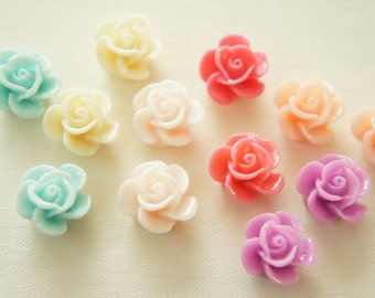 12 pcs Rose Cabochon (13mm) FL190