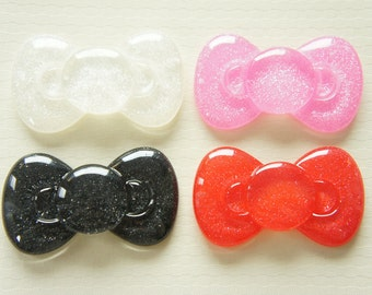 SALE 4 pcs Big Bow Cabochon (34mm60mm) 4 Colors BW127