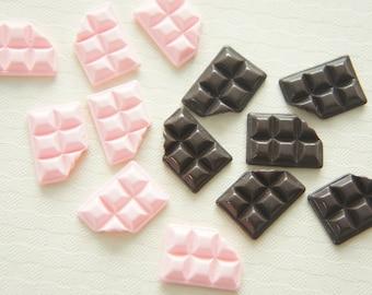 10 pcs Small Chocolate Bar Cabochon (12mm16mm) CD321