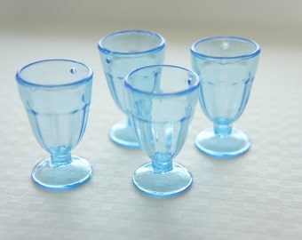 4 pcs Sundae  Cup Charm (H33mm)  Blue