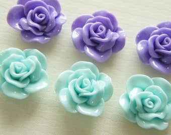 6 pcs Lovely Milky Color Rose Cabochon (27mm29mm) FL278 (((LAST)))