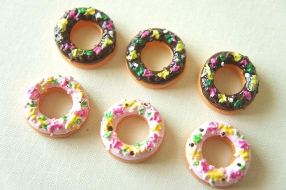 SALE 11 pcs Yummy Doughnut Cabochon (21mm) CK039 (((LAST)))