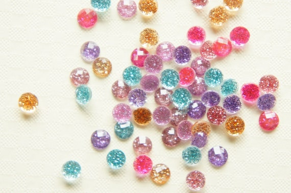 120 pcs Assorted Glitter Faceted Round Gems/Rhinestones (5mm) (((really LAST)))