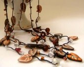 Autumn Leaves and Beads Necklace.
