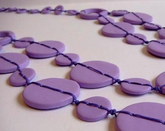 Lilac  and Lavender  Necklace  Handmade Jewelry
