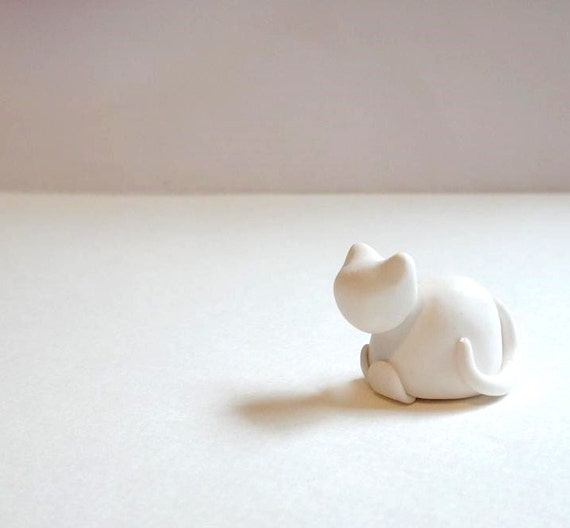 Reserved  Order .Baby Cat Figurine,Tiny Animal Hand Sculpted Figurine