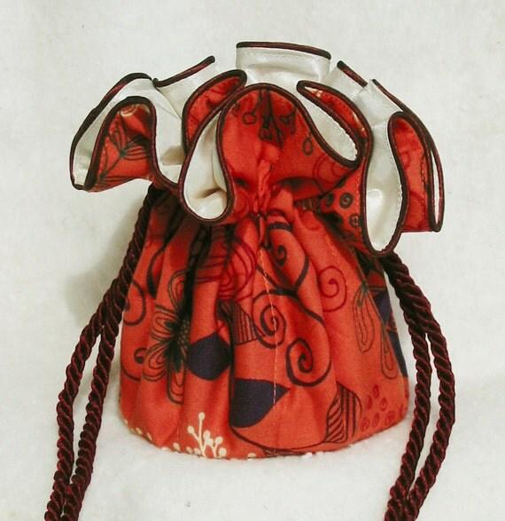 Orange Jewelry Bag Pouch, Travel Organizer, Bag on sale, Best on etsy