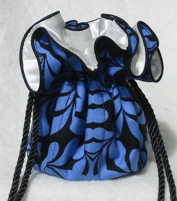 Черные и синие ювелирные сумка, путешествия организатор