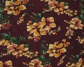 Vintage Rayon Floral Fabric