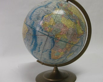 Vintage World Globe Earth Profile