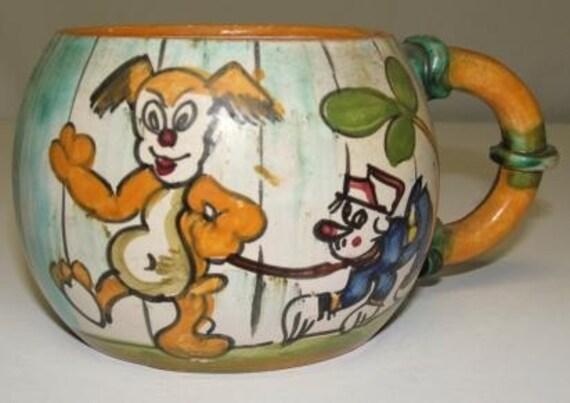 Antique Handpainted Mug