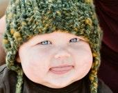 green beanie 6-12 months