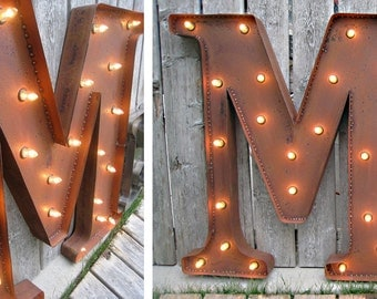 3 foot Marquee Letter - Rusty