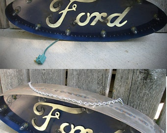 2 foot FORD marquee sign - blinking lights
