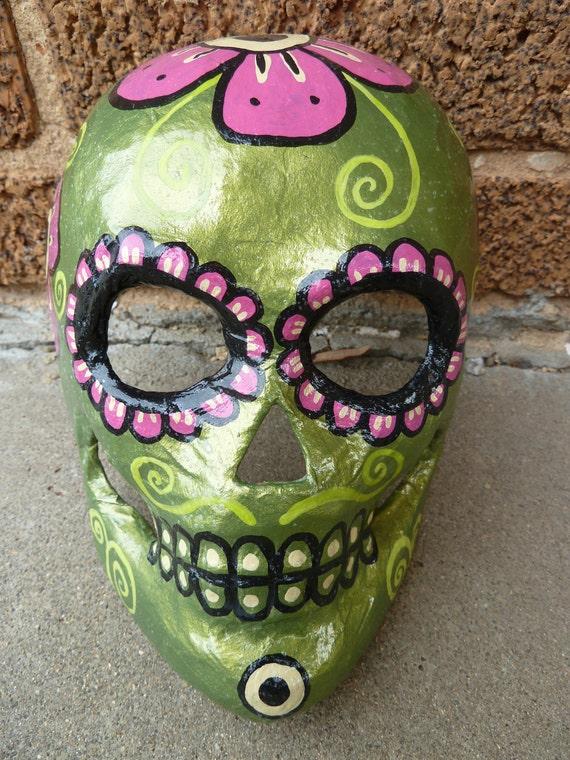 Dia de Los Muertos paper mache mask