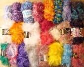 Assorted eyelash yarn- lot