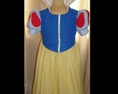 Disney Snow White Traditional Princess Dress(-----)Teardrops on Sleeves(-----)Custom Removable Collar(-----)Sizes 2T-8