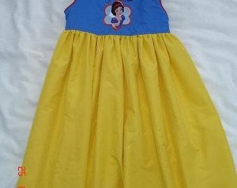 Custom Disney Snow White Princess Embroidered Dress(-----)U pick size(-----)12M-girls size 8