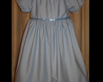 Peter Pan's Wendy Darling Dress/Nightgown(-----)Empire Waist and elastic neckline(-----)Sizes 12 Months to girls size 8