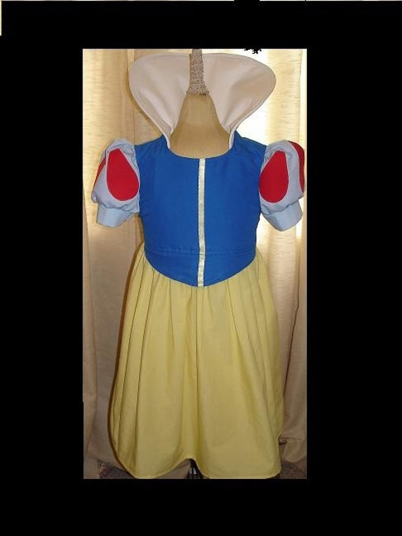Disney Snow White Traditional Princess Dress(-----)Teardrops on Sleeves(-----)Custom Removable Collar(-----)Sizes 2T-8