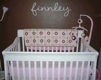 Personalized Name - Vinyl Wall Art Decal - Great for cribs or beds