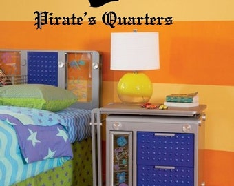 Pirate's Quarters - Personalized Vinyl Wall Decal