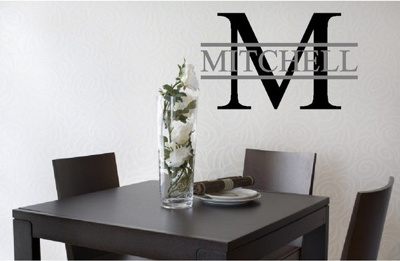Last Name and Initial for Entry Vinyl Wall Art Decal NI278
