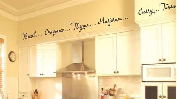 Kitchen Words Spices Wall Border Soffit Border Vinyl Wall