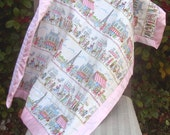 Reserved for lmrmom - Paris in Pink Baby Quilt