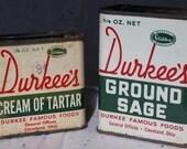 Vintage DURKEE Spice Tin lot - Kitchen Advertising Decor