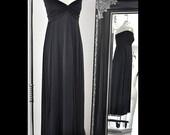 Black Sweetheart Strapless Maxi Dress Item 4399
