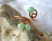 Honeydew Green Copper Toe Ring