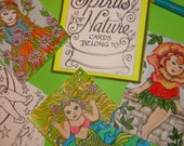 SPIRITS OF NATURE- coloring card kit of little fairies, mermaids and spirits of weather and elements