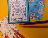 CRAZY LITTLE BABIES- color your own art trading cards