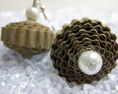 Beachy Paper Earrings - Natural