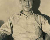 Antique 1930's Photograph - Man With a Mustache