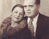 ANTIQUE Photo Ephemera - 1920s Couple