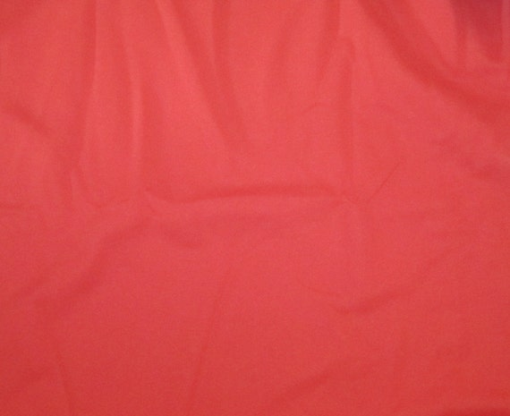 Vintage Knit Fabric - Coral Pink - 1 yard, 16 inch remnant