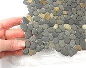Miniature Garden Stone Sheet for Patio Pathway Fairy Terrarium Mosaic Seaside Gray