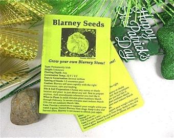 Blarney Stone Seeds, St. Patrick's Day Fun, Grow Your Own Blarney Stone Garden
