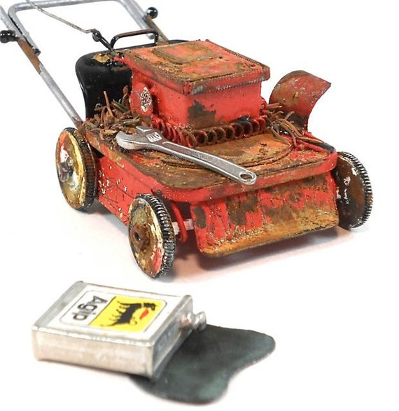 Old Lawn Mower for Miniature Fairy Gardening, May Not Run