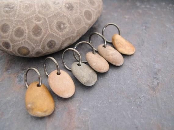 Beach Stone Dangle Charms by BeachStoneSoup