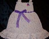 Toddler's 3T Hand Crocheted Sun Dress