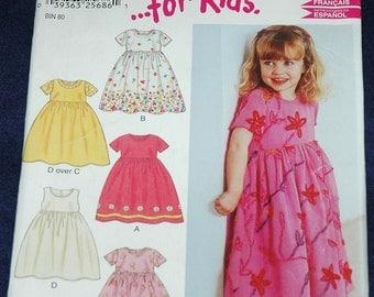 New Look 6171 Sz 1/2 1 2 3 4 Toddler Girls Dress or Jumper UNCUT