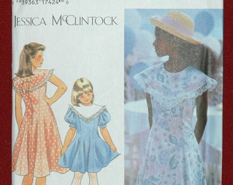 Simplicity 9965 Sz 7 8 10 12 14 Girls Lined Dress UNCUT