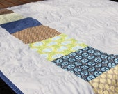 SALE -- Cool Blue -- Modern Baby Quilt or Throw