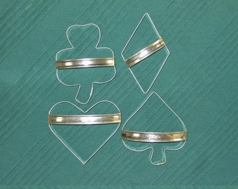 Card Party Cookie Cutter Set of 4 With Custom Handles By West Tinworks