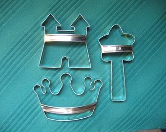 Princess Cookie Cutters With Custom Handles 3-Piece By West Tinworks