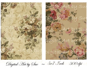 Instant Download Background No. 1380- 5 X 7  -  Printable Digital Collage Sheet - Digital Download