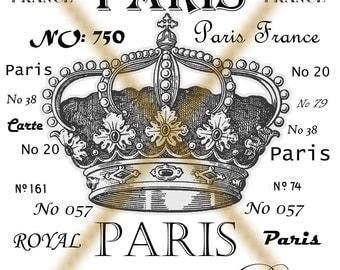 INSTANT DOWNLOAD - PARIS -  Large Single Image -Download -Digital  Images -Transfer pattern -